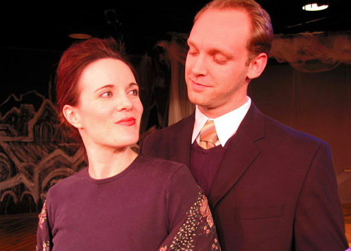 """Maren Maclean and Robbie Vance in ASU West's 2003 production of """"The Dead."""" (Photo by CJ Mascarelli)"""