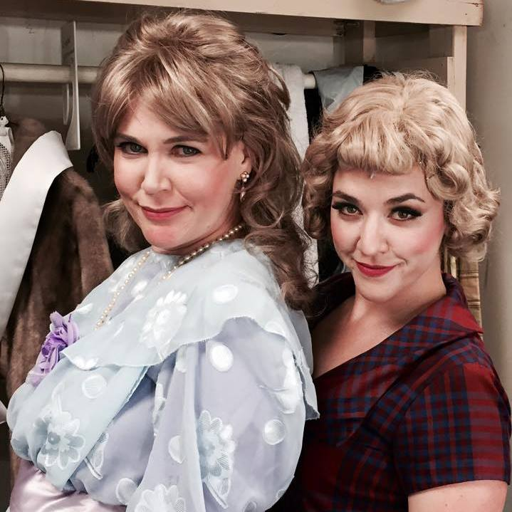 Backstage at 'Follies', Theater Works, 2015. Beth Anne Johnson and Brandi Bigley. Photo from Beth Anne's Facebook archive.