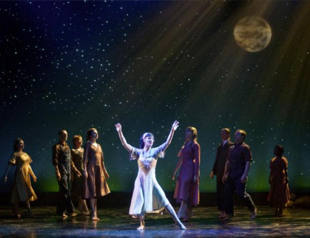"""Michael J. Eddy's lighting design for Center Ensemble's """"The Ballad of Barbara Ann,"""" 2011. (Photograph by Tim Fuller)"""