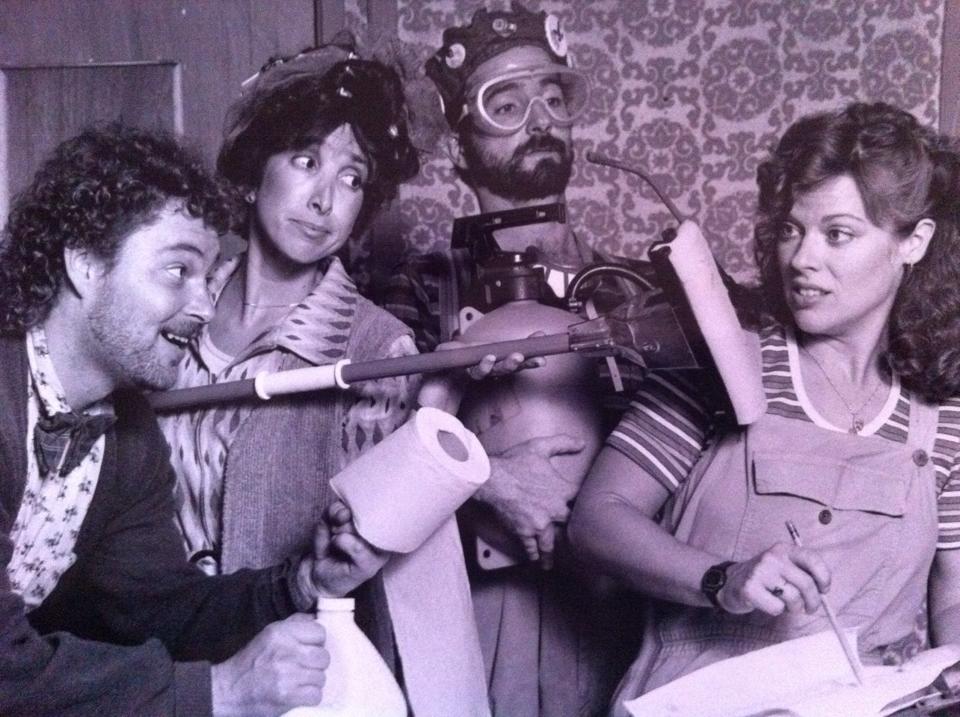 Childsplay, 1987, Clarissa's Closet, Scott Pegg, Susan Sindelar, Jon Gentry, Debra K. Stevens. Photo credit unknown.