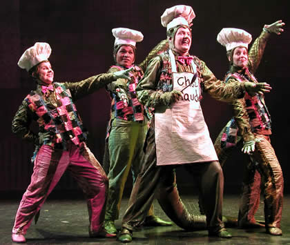 """Childsplay's 2007 production of """"Petite Rouge"""" featured JoAnn Yeoman's choreography. (Photo Credit Unknown)"""