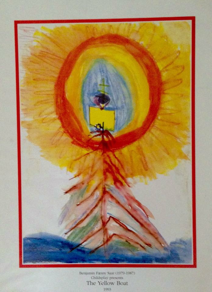Benjamin Saar's painting of a yellow boat sailing to heaven was the inspiration of his father, David's play, ''The Yellow Boat,'' one of the greatest children's plays in the repertoire.