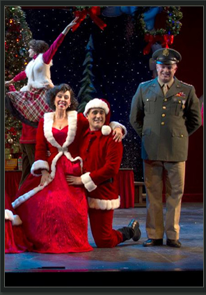 """Debby Rosenthal and unidentified actors in Phoenix Theatre's 2013 production of """"White Christmas."""" (Photo by Sara Chambers)"""