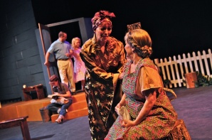 "Petey Swartz plays Rosemary, and Barbara Walker McBain plays Mrs. Potts in William Inge's Pulitzer Prize-winning drama ""Picnic"" at Desert Foothills Theatre in 2012. (Photo credit unknown)"