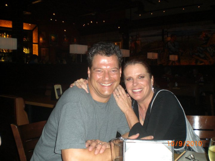 Gene Ganssle and Robyn Allen at a cast party. (Photo by Janine Smith)