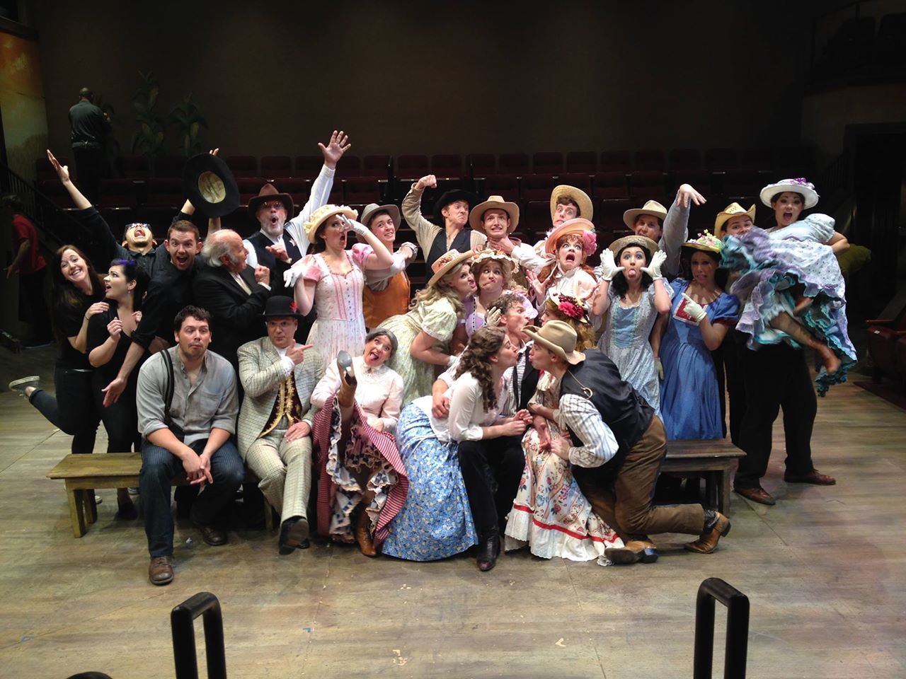 "The cast of Hale Centre Theatre's 2014 production of ""Oklahoma!"" (Photo Credit Unknown)"