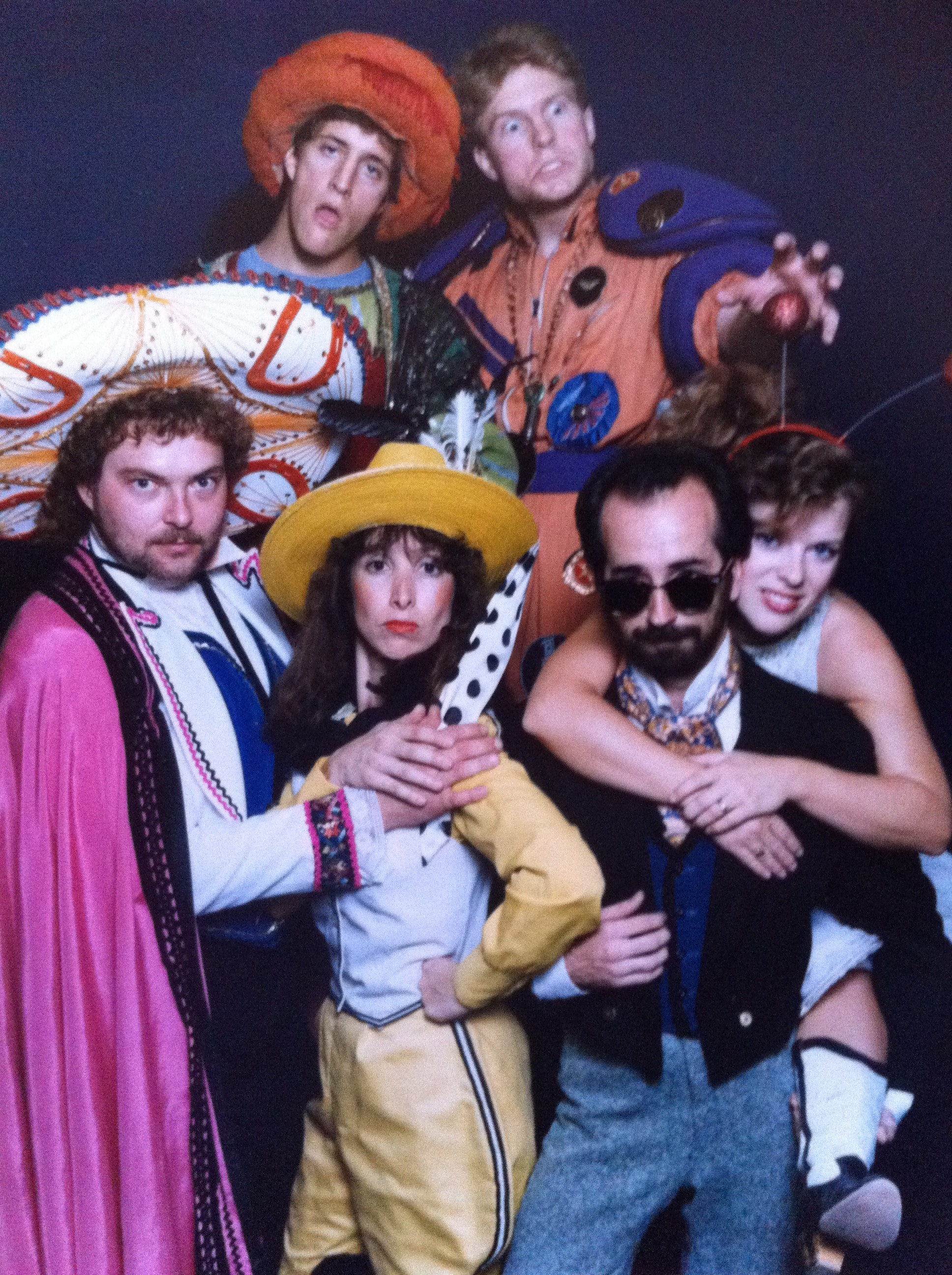 """Susan Sindelar (in yellow) and company in Childsplay's """"Montana Molly and the Peppermint Kid."""" (Photograph courtesy of Susan Sindelar.)"""