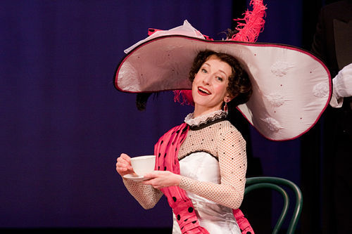 """Jeannie Shubitz as Eliza Doolittle in """"My Fair Lady"""" at the Arizona Broadway Theatre (2011). (Photo credit unknown)"""