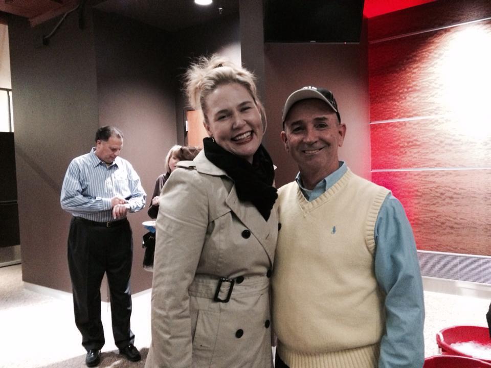 Beth Anne Johnson with Jon Gentry at A celebration of Jerry Wayne Harkey's Life.