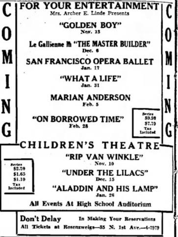 Jesse Linde Oct. 8, 1939