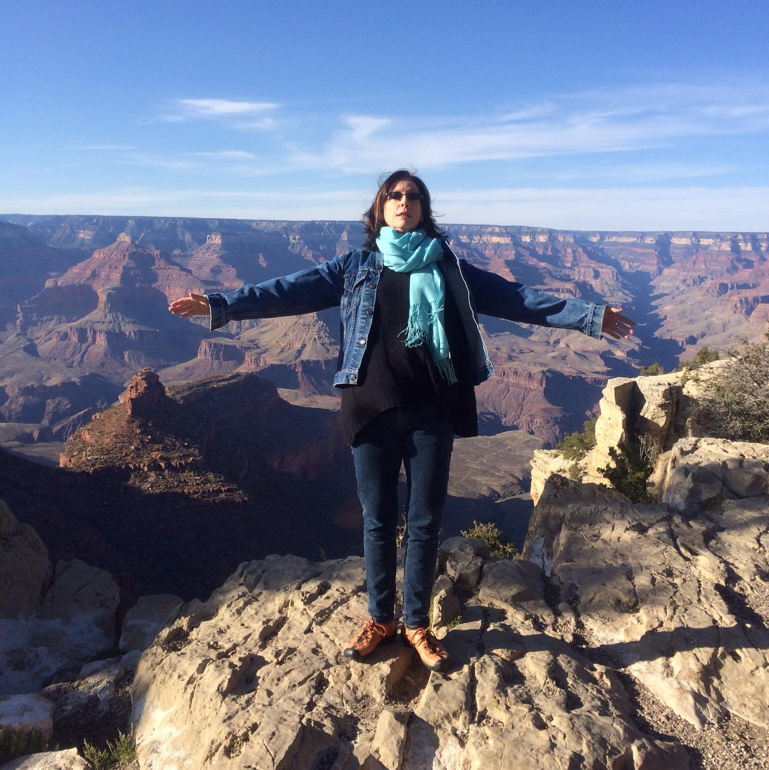 Katie McFadzen strikes a pose at the Grand Canyon.