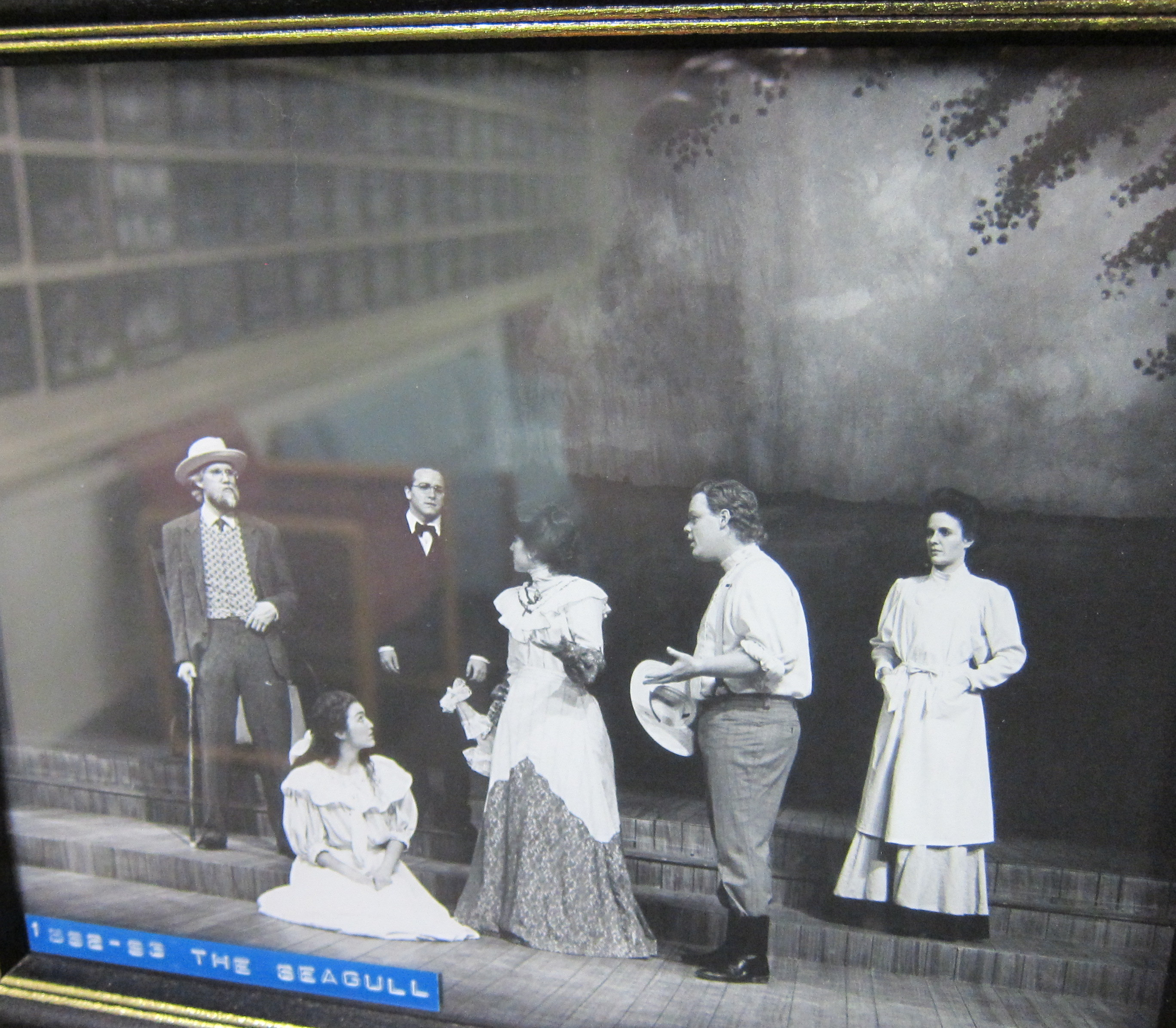 """Here is a rare photo of Maren Maclean (far right) performing in Anton Chekhov's """"The Seagull"""" at the Utah Shakespeare Festival."""