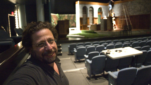 Matthew Wiener, in Stage West Theater before his company left the Herberger Theater Center.
