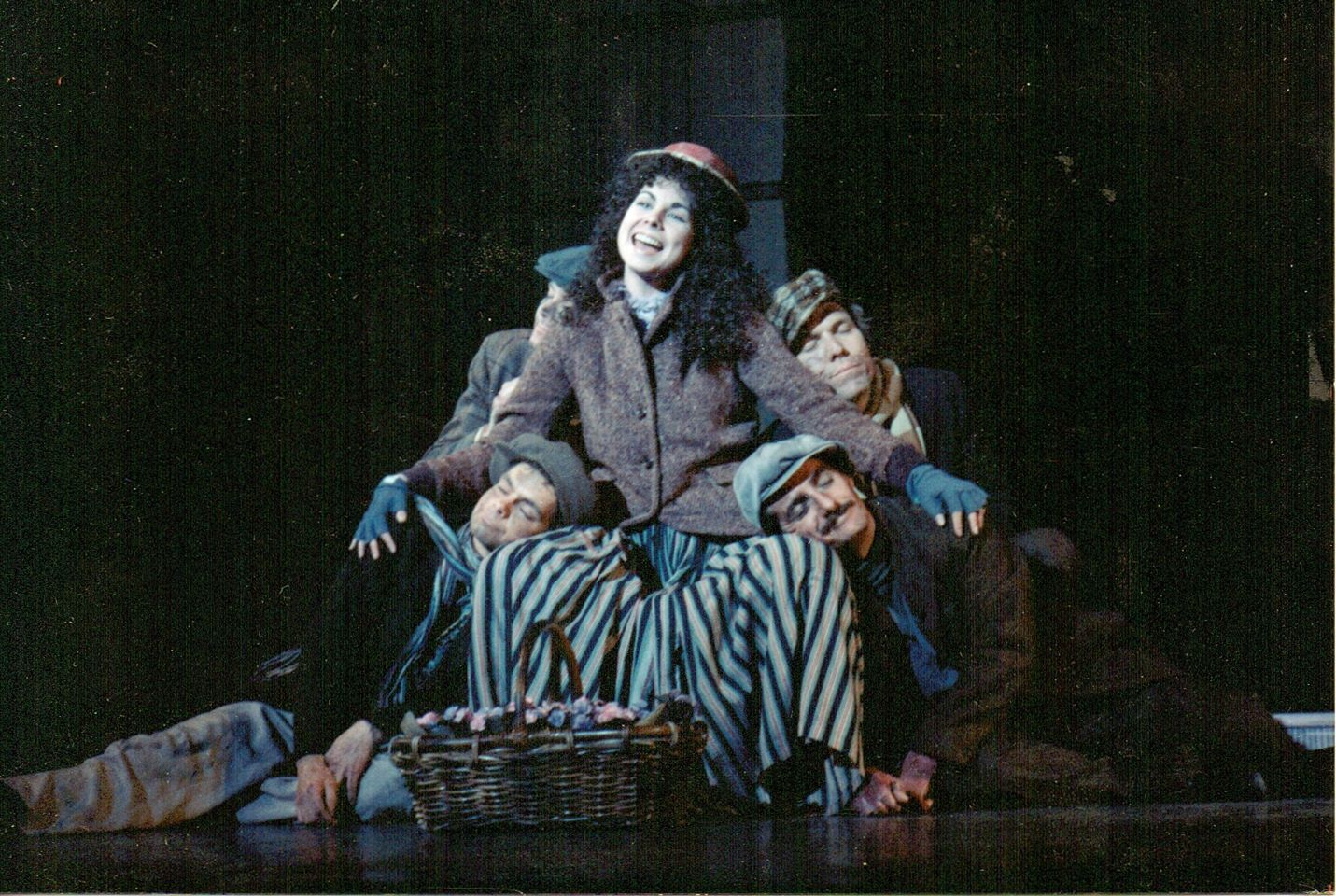 Musical Theatre Arizona 1989 My Fair Lady. Sarah Tattersall with, from left, Doug Durant, Alan Lea, Tony Hodges and Rand Mozingo. (Photo Credit Unknown)