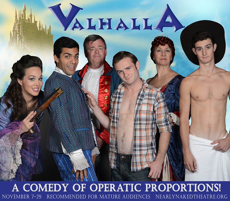 Nearly Naked Theatre 2014 Valhalla. Vinny Chavez, Pat Russel, Portia Beacham. Photo by Laura Durant.