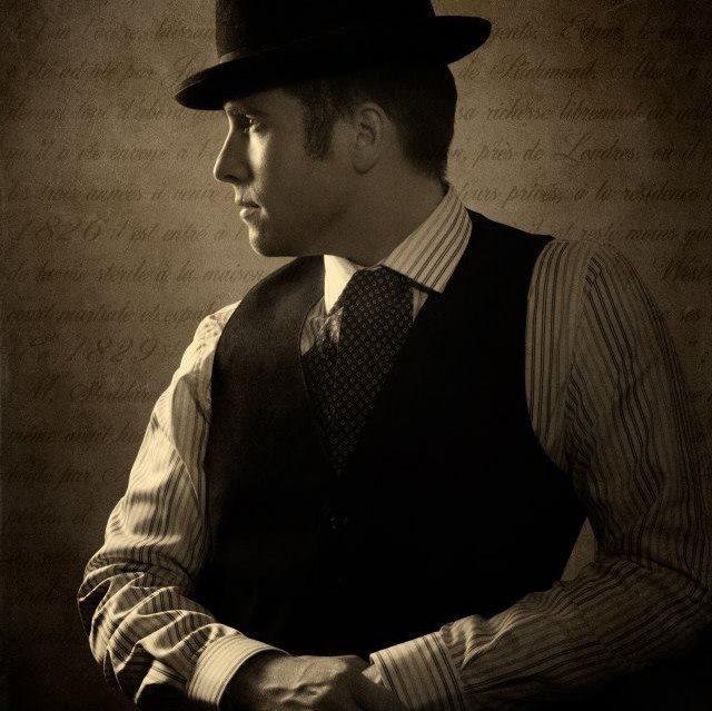 Nick Cartell: As comfortable in period attire as he is in modern dress.
