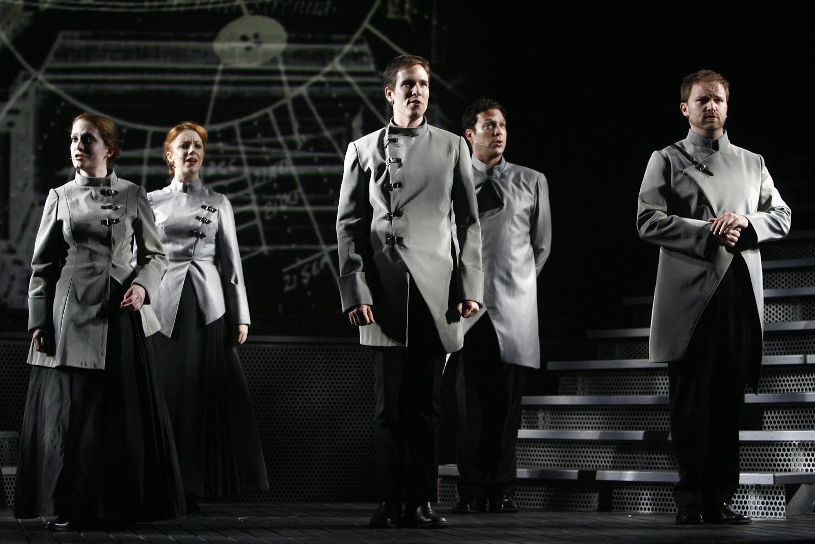 """Nick Cartell (center) in """"Frankenstein."""" (Photo credit unknown)"""