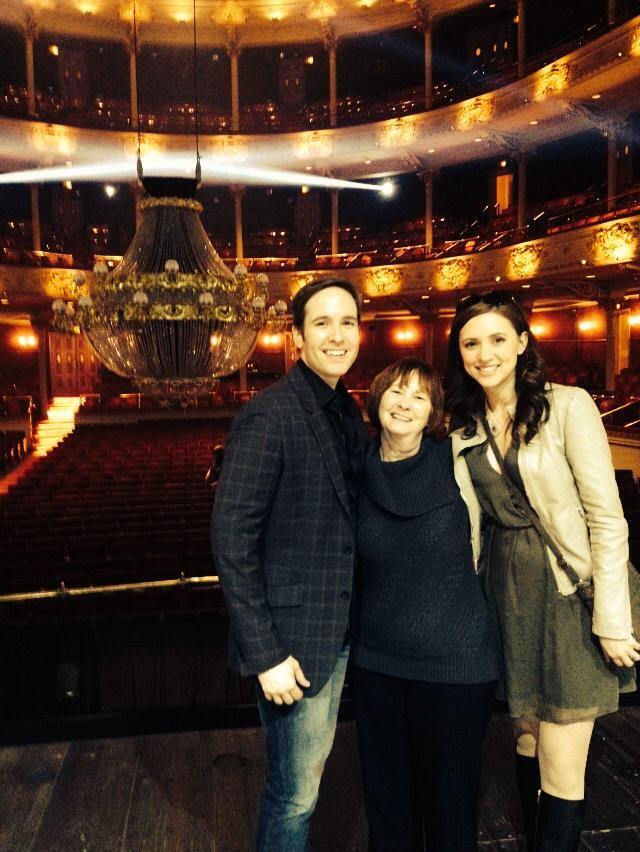 There's nothing better than having your wife and mom in the audience - Nick Cartell, Kathy Cartell and Christine Bettes Cartell.