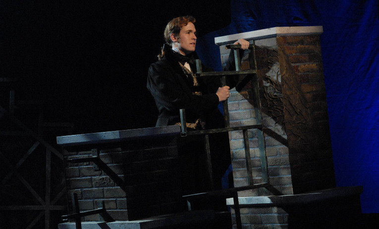 """Nick Cartell in Phoenix Theatre's 2009 production of """"Les Miserables."""" Photo by Laura Durant."""