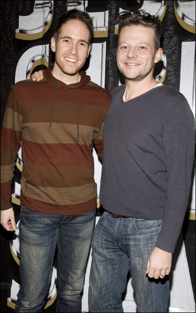 """Nick Cartell with his """"Jesus Christ Superstar"""" co-star, Jeremy Kushnier. (Photo credit unknown)"""