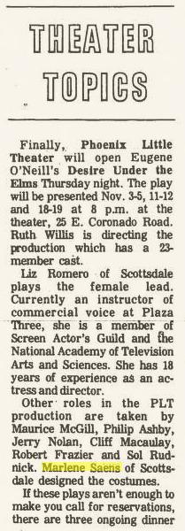 Phoenix Theatre 1977 October, Desire Under the Elms 002
