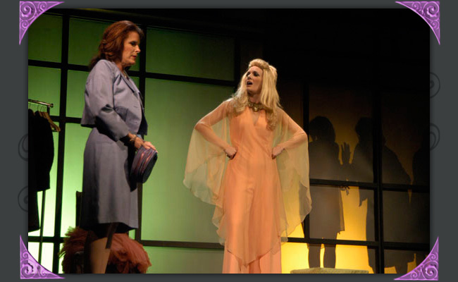 """Robyn Allen is Mary and Maren Maclean is Crystal in Phoenix Theatre's 2006 production of """"The Women."""" (Photo by Laura Durant)"""
