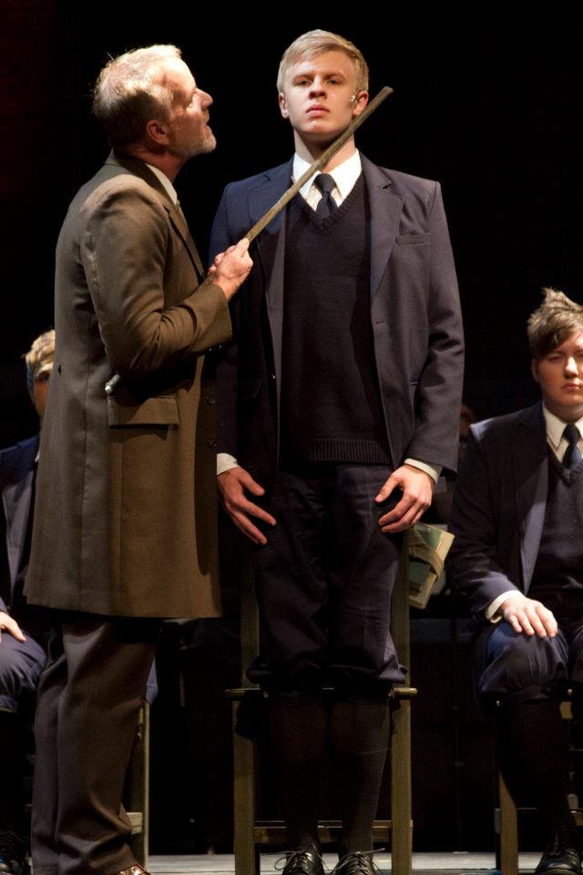 """David Weiss, Cooper Hallstrom and Evan Tyler Wilson in """"Spring Awakening,"""" 2012, Phoenix Theatre. (Photo by Sara Chambers)"""
