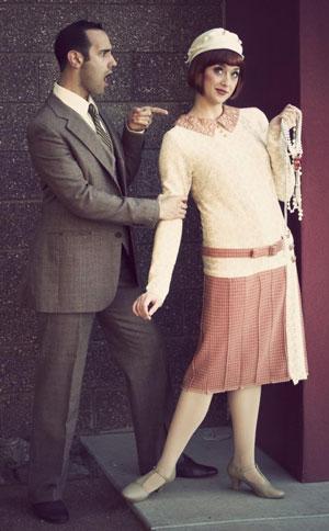 """Kyle Erickson Hewitt and Kaitlynn Kleinman Bluth in """"S'Wonderful"""" at Phoenix Theatre. (Photo credit unknown)"""