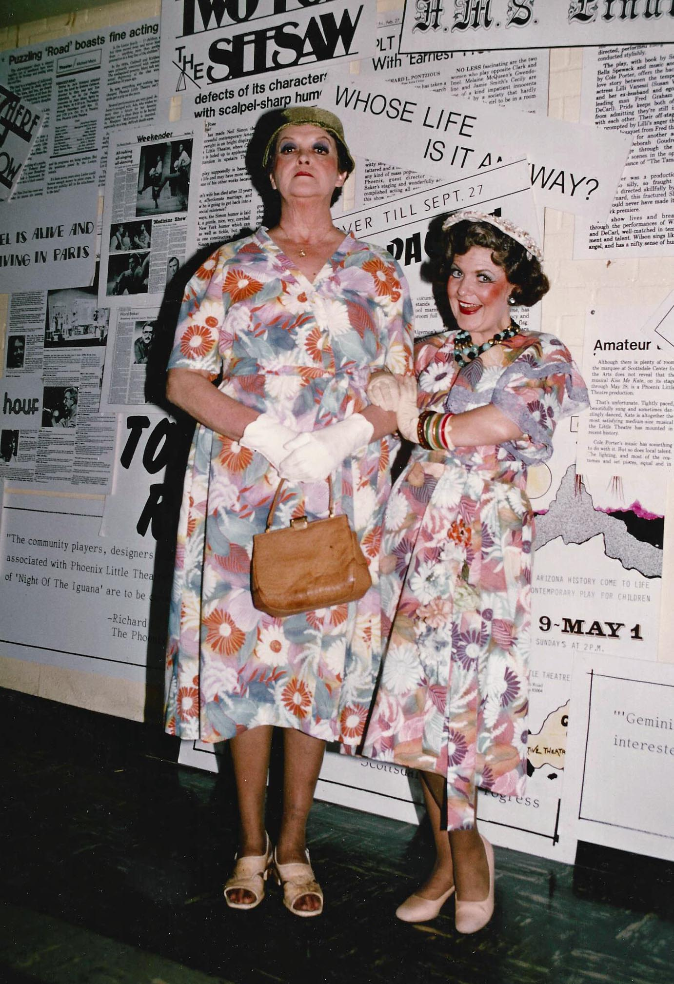 "Eleanor Hoffman and Jan Sandwich in ""Damn Yankees,"" produced at Phoenix Little Theatre in the 1970s or '80s. (Photo from the collection of Jan Sandwich)"