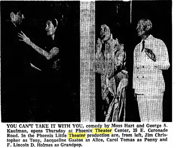 Jim Christopher, Jacqueline Gaston, Carol Tomas and F. Lincoln D. Holmes.