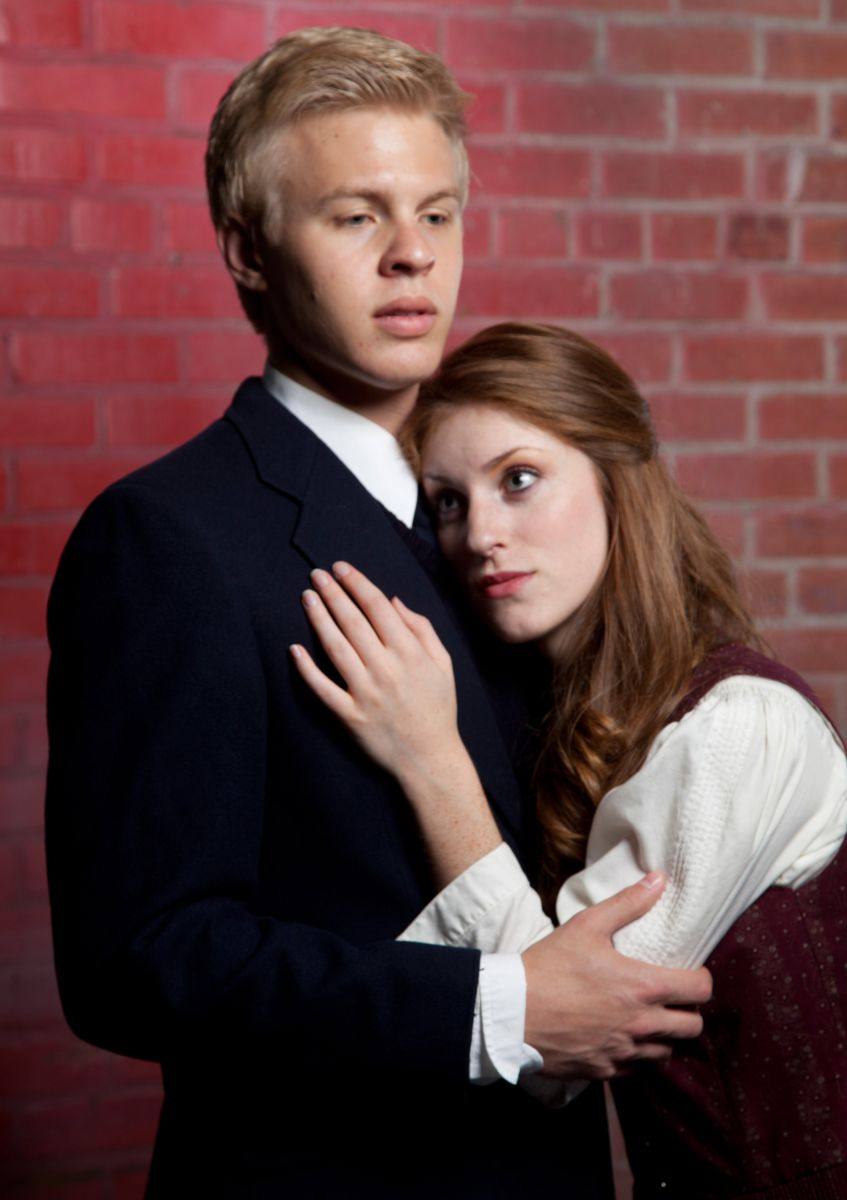 """Cooper Hallstrom and Katrin Murdock in """"Spring Awakening,"""" Phoenix Theatre, 2012. (Photo by Jerry O'Conner)"""