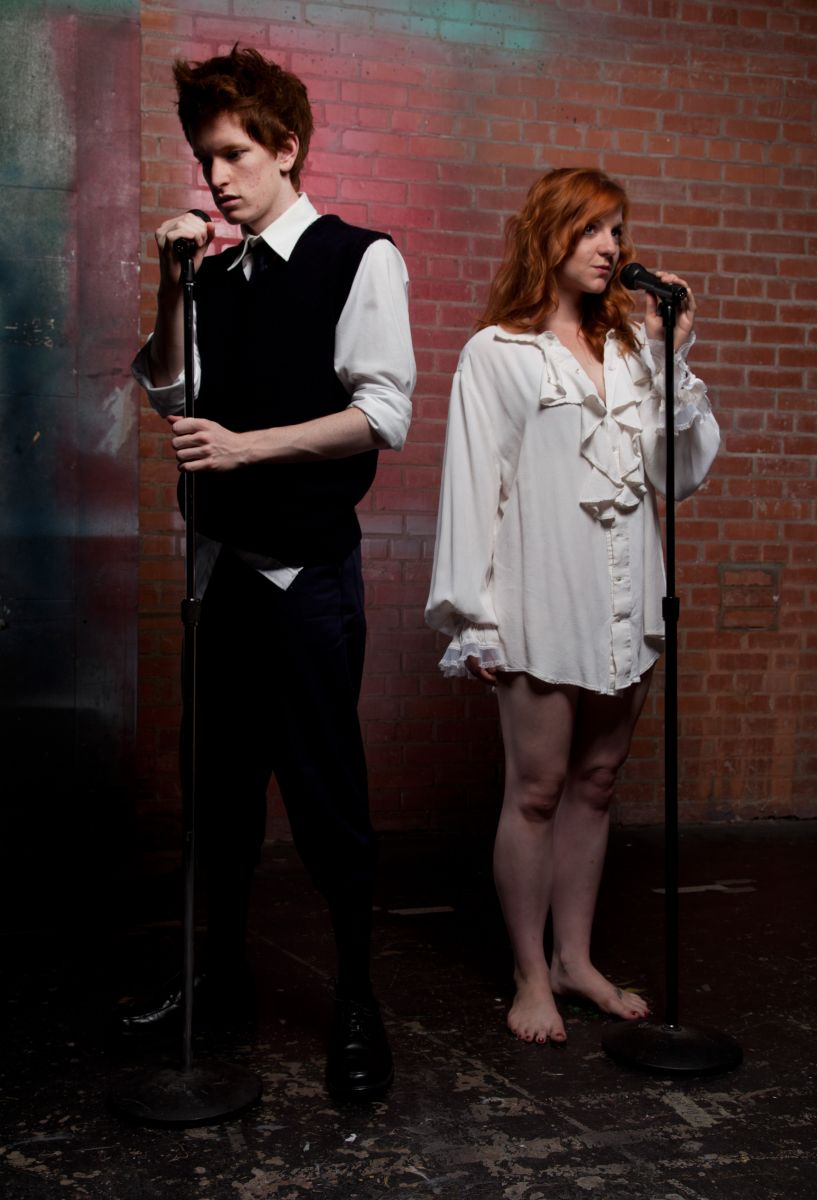 """Matthew Cordon and Cassie Chilton in """"Spring Awakening,"""" Phoenix Theatre, 2012. (Photo by Jerry O'Conner)"""