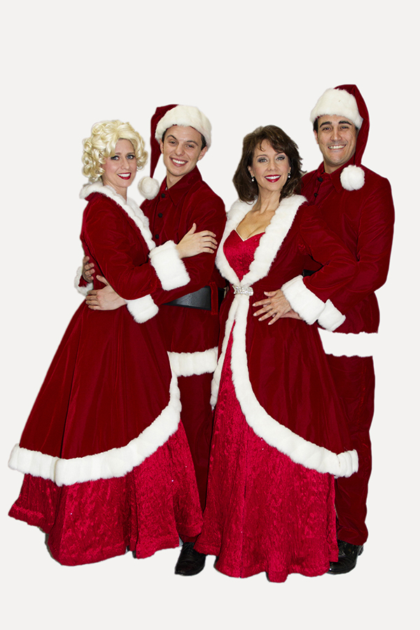 "Phoenix Theatre produced ""White Christmas"" in 2013 with (L to R) Molly Lajoie, Peter Marinaro, Debby Rosenthal, and Joseph Cannon. (Photo by Sara Chambers)"