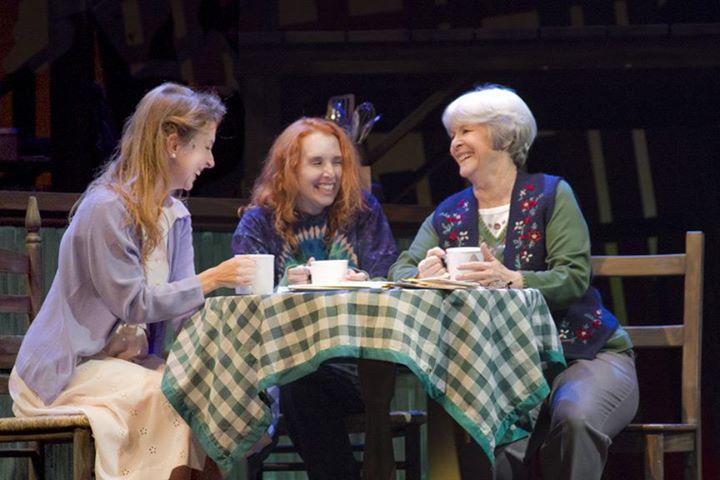 "Jeannie Shubitz as Shelby, Trisha Hart Ditsworth as Percy and Barbara McBain as Hannah in ""The Spitfire Grill."""