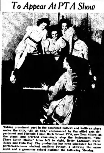 Phoenix Union High School PTA Show Dec. 4, 1940