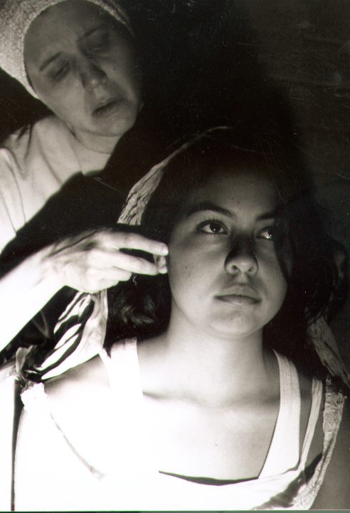 """Edee Trejo Cadin in """"The Conduct of Life"""" at Planet Earth Theatre. (Photo from the collection of Mollie Kellogg)"""
