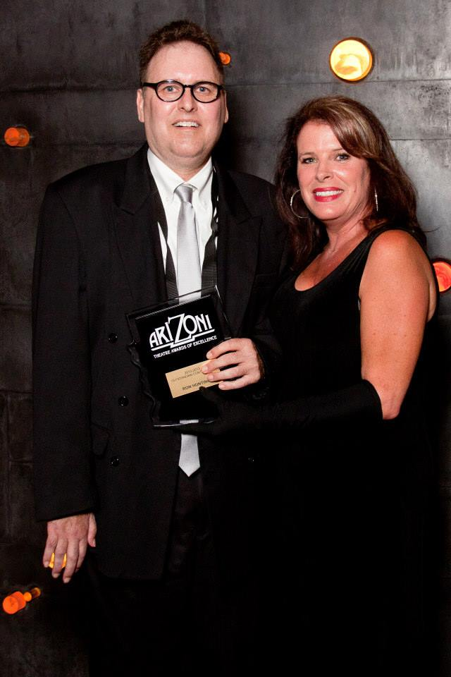 Ron Hunting and Robyn Allen at the 2013 ariZoni Awards. (Photo, Finding Joy Photography)