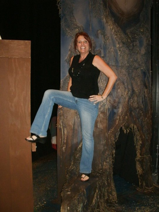 Robyn Allen backstage at 2010's 'Into the Woods.' (Photo by Brenda Goodenberger)