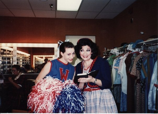 Robyn Ferracane (right) and a friend backstage at Phoenix Little Theatre. (Photo from the collection of Robyn Ferracane)
