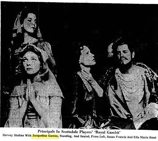 Scottsdale Community Players 1961 Royal Gambit 001