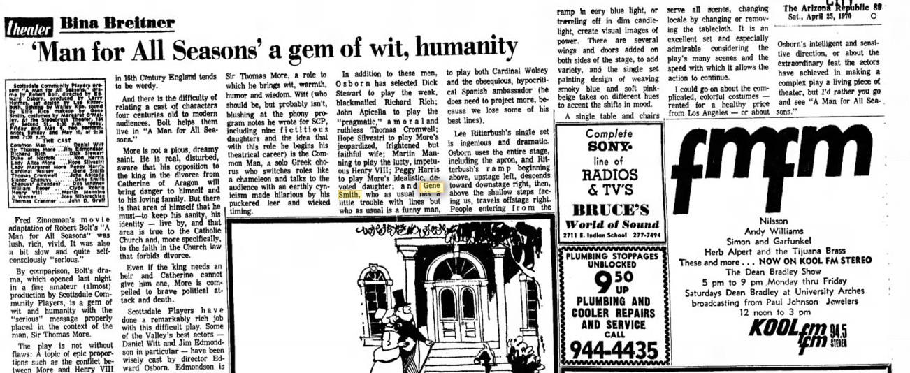 Arizona Republic, April 25, 1970