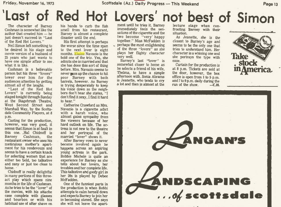 Scottsdale Progress, Nov. 16, 1973