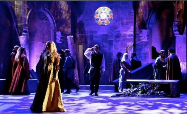 "Michael J. Eddy's lighting for ""Romeo & Juliet,"" 2012, Southwest Shakespeare Company. (Photography by Eric Sallee)"