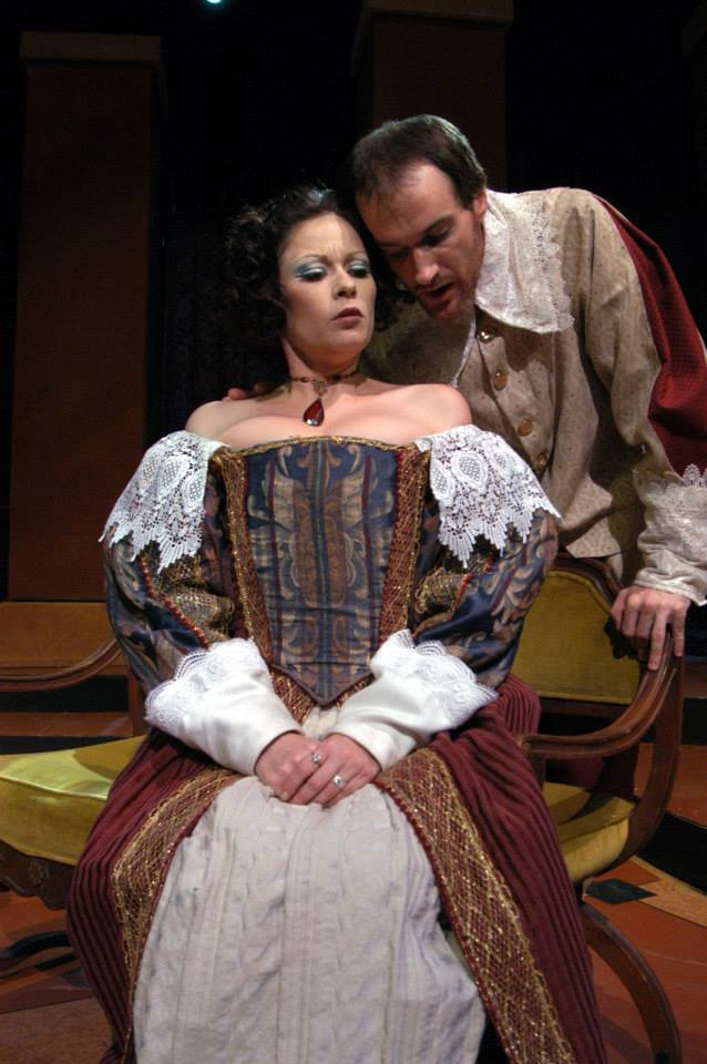 """Jennifer Banda and Christopher Miller in Southwest Shakespeare Company's 2004 production of """"Cardenio."""" (Photo credit unknown)"""