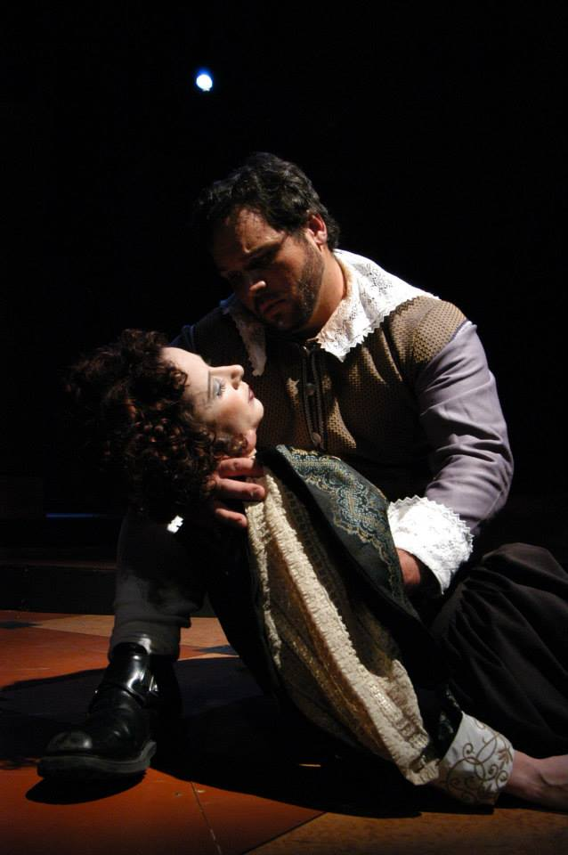 """Quetta Lulubelle Carpenter and Cale Epps in Southwest Shakespeare's 2004 production of """"Cardenio."""" (Photo credit unknown)"""