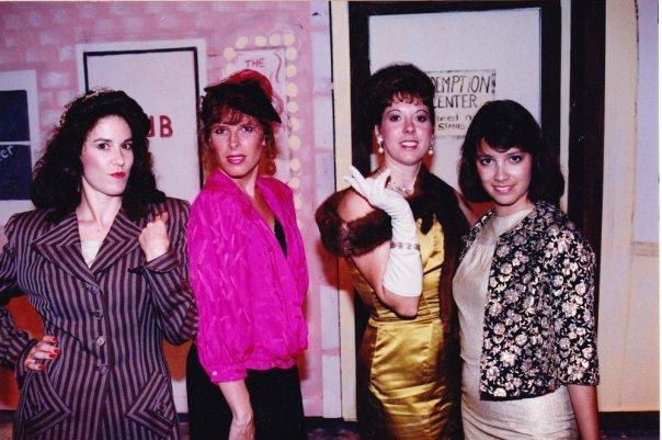 Theater Works. 2009. Guys and Dolls. Susan Manz, Robyn Allen, Lauren Schiefer, Shawnna Pomeroy. (Photo credit unknown)