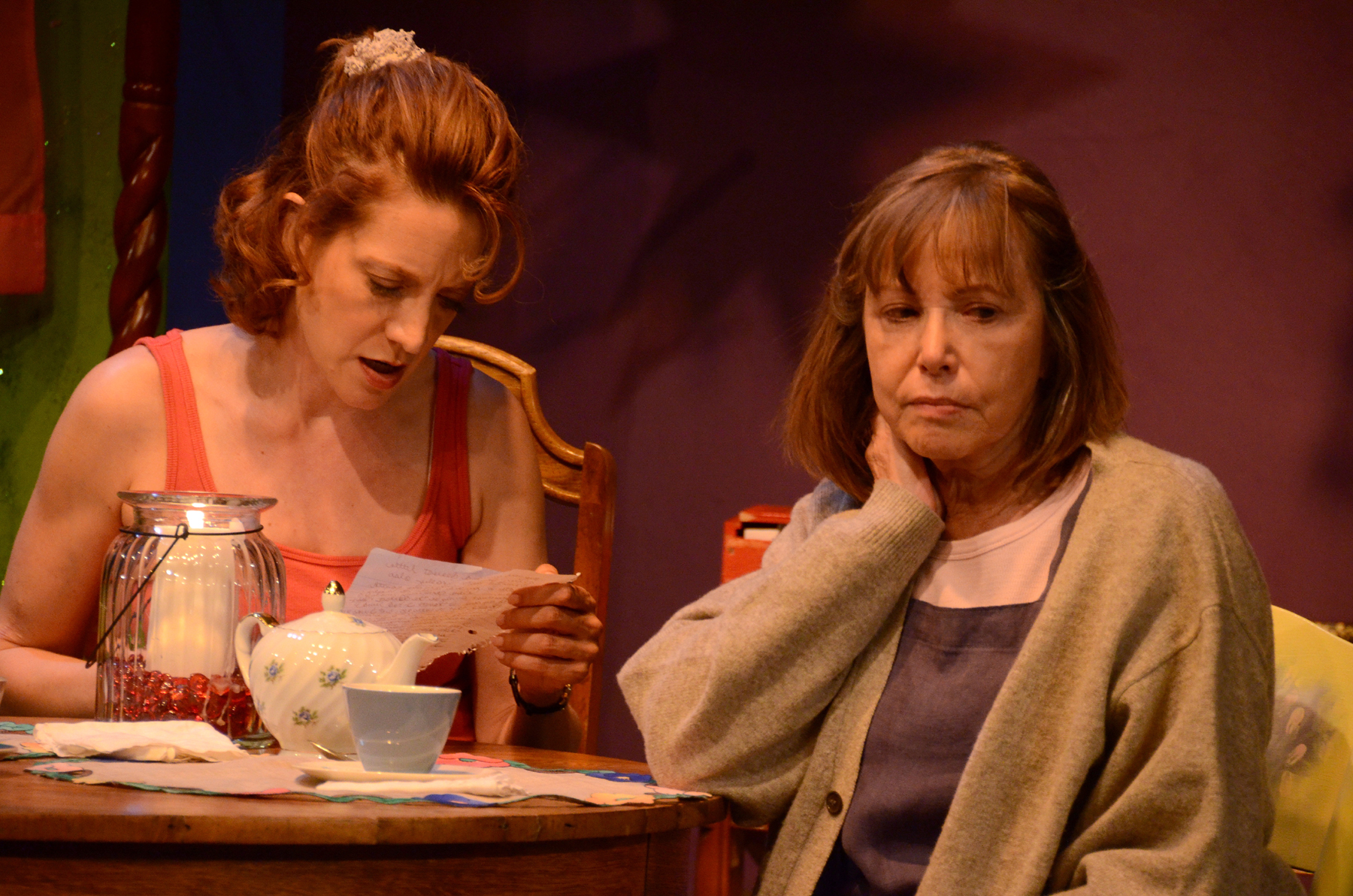 """Debra Rich and Judy Lebeau in Theatre Artists Studio's 2012 production of """"The Road to Mecca."""" (Photo Credit Unknown)"""