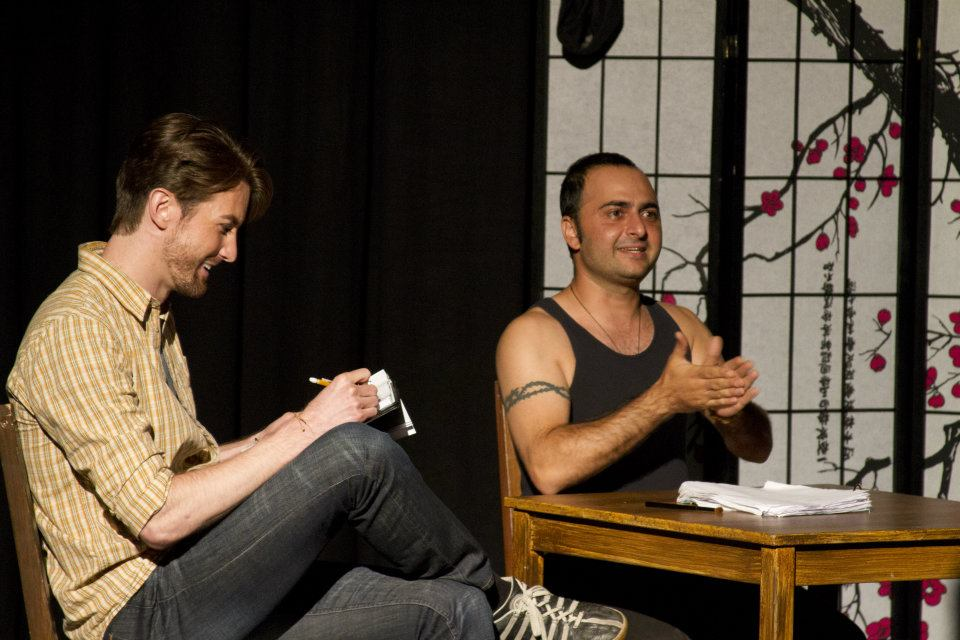 "Toby Yatso as Jamie Wyeth and Pasha Yamotahari as Rudolph Nureyev in ""Nureyev's Eyes."" (Photo credit unknown)"