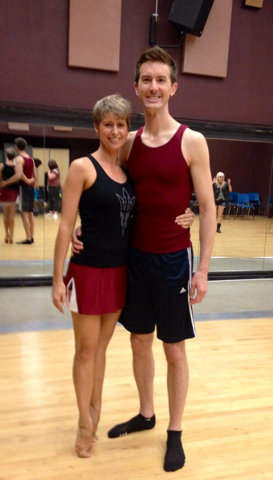 Toby Yatso with Molly Lajoie Plutnicki in the rehearsal hall at ASU's Lyric Opera Theatre. (Photo credit unknown)