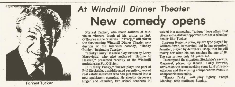 Windmill Dinner Theatre, Hanky Panky 001